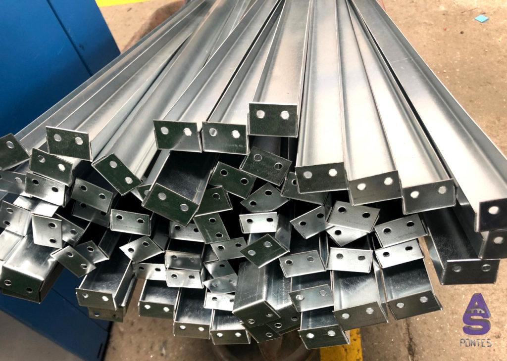 soportes en chapa galvanizada carpintería metálica as pontes