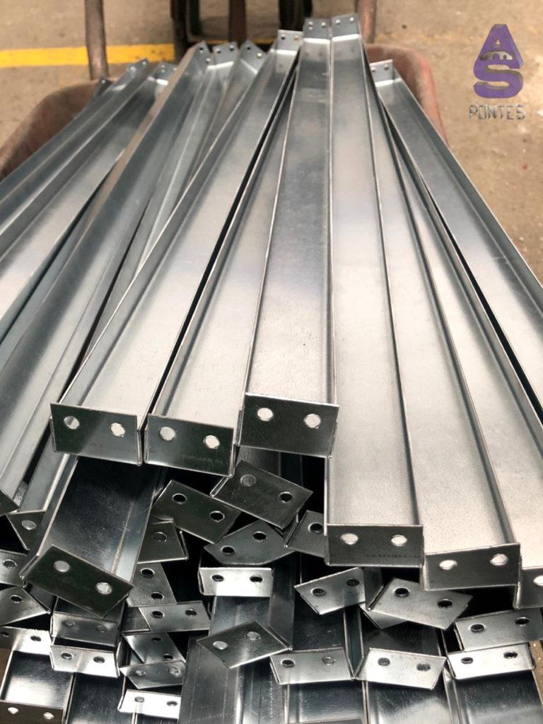 soportes en chapa galvanizada carpinteria metálica as pontes